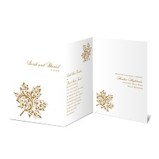 Autumn's Grace Gold Wedding Invitation