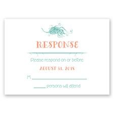Peacock Whimsy - Response Card