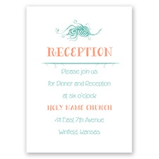 Peacock Whimsy - Reception Card