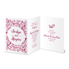 Floral Charm Wedding Invitation
