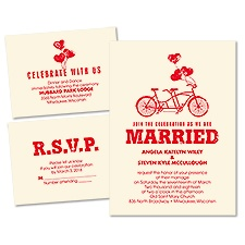 In Tandem Ecru Separate and Send Wedding Invitation