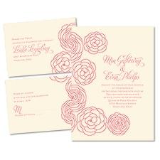 Simply Floral Ecru Separate and Send Wedding Invitation