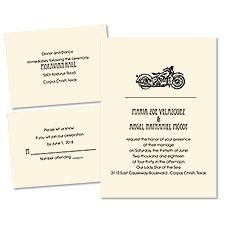 Wild Ride Ecru Separate and Send Wedding Invitation