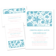 Beach Gathering Separate and Send Wedding Invitation