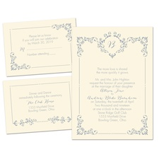 Swirls and Spires Ecru Separate and Send Wedding Invitation