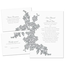 Floral Sketch Separate and Send Wedding Invitation