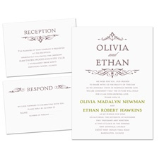 Simply Stylish Separate and Send Wedding Invitation