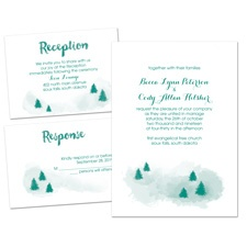 Peaceful Pines Separate and Send Wedding Invitation