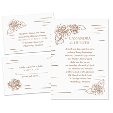 Naturally Perfect Separate and Send Wedding Invitation