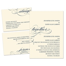 Forever & Always Ecru Separate and Send Wedding Invitation