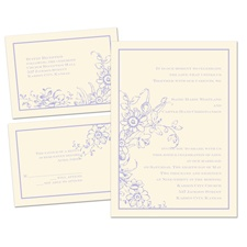 Love in Abundance Ecru Separate and Send Wedding Invitation