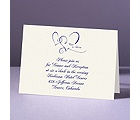 With Love - Ecru Reception Card