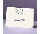 With Love - Ecru Thank You Card and Envelope