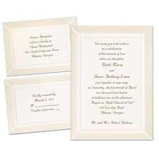 Display of Affection Ecru Separate and Send Wedding Invitation