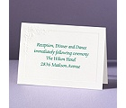 Embossed Floral in White - Reception Card