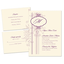 Pretty Patterns Ecru Separate and Send Wedding Invitation