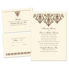 High Style Ecru Separate and Send Wedding Invitation