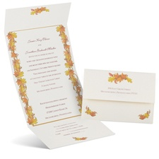 Autumn Garland Seal and Send Wedding Invitation