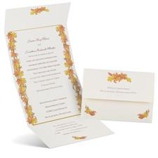 Autumn Garland Seal and Send Wedding Invitation