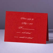 Are You Blushing - Response Card and Envelope