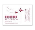 Boarding Pass - Reception Card