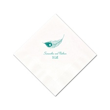White Cocktail Napkin