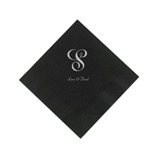 Black Cocktail Napkins
