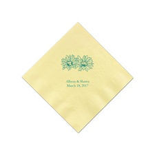 Yellow Cocktail Napkin