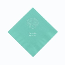 Aqua Cocktail Napkin
