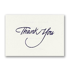 Purple Foil Thank You - Printed