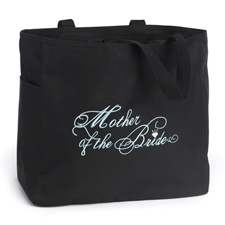 Black and Aqua Mother of the Bride Tote Bag