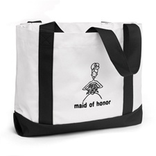 Maid of Honor Black and White Tote Bag