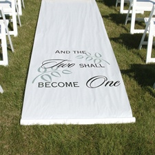 Two Shall Become One - White - Aisle Runner