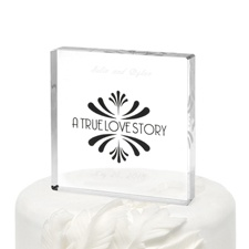 Love Story Cake Top