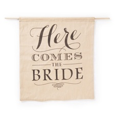 Here Comes the Bride - Rustic Sign