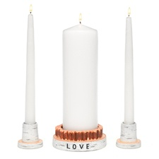 Rustic Love Unity Candle Stand Set