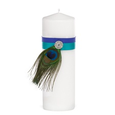 Beautiful Peacock Unity Candle