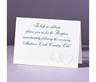 Hearts Desire - Reception Card