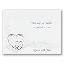 Hearts Aglow Wedding Invitation
