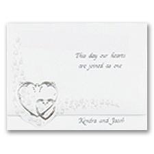 Hearts Aglow Wedding Invitation
