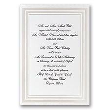 Elegant Pearl Borders Wedding Invitation