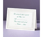 Elegant Pearl Borders - Response Card and Envelope