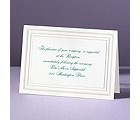 Elegant Pearl Borders - Reception Card