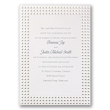 Shimmering Pearls Wedding Invitation