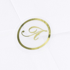 Gold Foil Alphabet Seal
