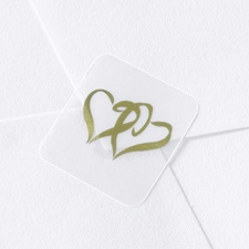 Gold Swish Hearts Seal