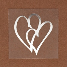 Non-personalized Silver Hearts Seal