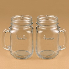 Couples Drinking Jar Set