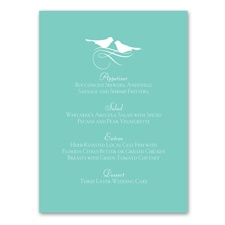 Charming Birds - Menu Card