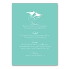 Charming Birds - Menu Card